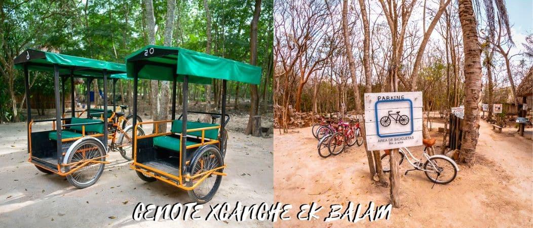 cenote xcanche triciclos bicis